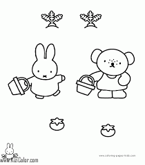 Miffy Coloring Pages Household Page 13 Free Printable For Kids 9