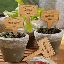 personalized plant markers vegetable garden 20033
