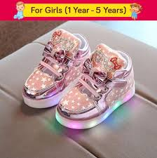 Baby Girl Shoes With Lights Passion Petals Baby Girl Pink Star Led Light Shoes Pink