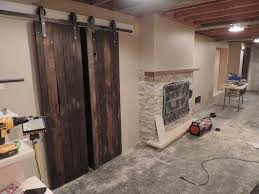 image of interior sliding barn door track