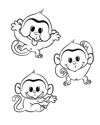 Small Picture Cute baby monkey coloring pages printable ColoringStar
