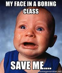 My face in a boring class Save me.... - Crying Baby | Meme Generator via Relatably.com
