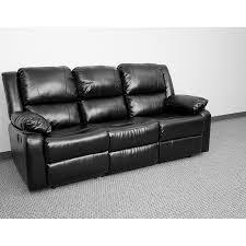 harmony series black leather sofa with