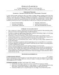 Operations Management Resume Examples Sonicajuegos Com