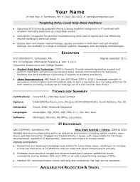 It Help Desk Technician Job Description Template Cover Letter Sample
