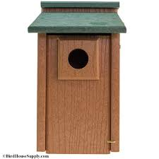 woodlink going green bluebird house natural