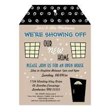 Invitation To Open House Whimsical Tag Cut Open House Invitation Zazzle Com