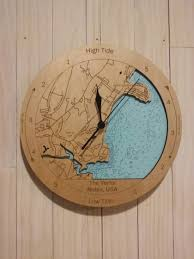 wooden tide clock the yorks maine usa