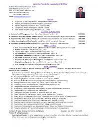 Cover Letter Safety Manager Resume Safety Manager Resume Samples