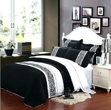 black and white bed set bedding sets full modern king comforter quilt size duvet