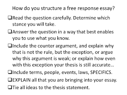 essay writing response and dbq ppt video online  how do you structure a response essay