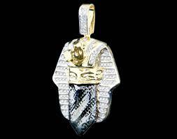 10k gold 0 55ct diamond king tut goon mask pendant king johnny johnny s custom