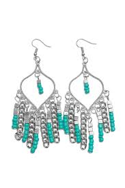 riah fashion turquoise chandelier dangle earrings front cropped image