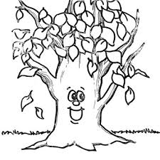 Small Picture Fall Tree Coloring Pages FunyColoring