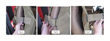 step 2 position the bottom portion of the cover across the seat bottom attach the hooks underneath the seat to a place that gives it a nice fit