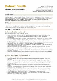 Quality Engineer Resume New Software Quality Engineer Resume Samples QwikResume