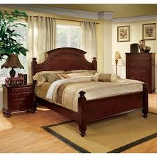 Furniture of America Alianess European Style Cherry Four Poster Bed a1766a04 6b73 4a39 b5c3 f2464f 600