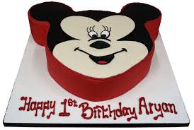 Mickey Mouse Shaped Cake