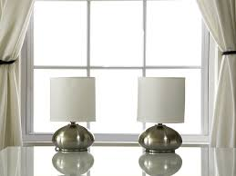 light accents touch table lamp set metal lamps with fabric shades and 3 stage touch dimmer switch brushed nickel com