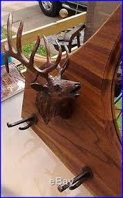 Gun Coat Rack NRA Elk Gun Coat Rack with mirror from Big Sky Carvers Big Sky 72