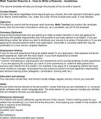 Resume For Math Teacher Nmdnconference Com Example Resume And