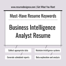 Must Have Keywords For Business Intelligence Analyst Resume