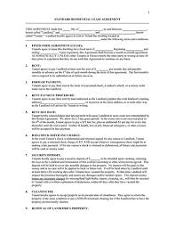 Standard Rental Agreement Template Standard Lease Agreement Templates Free Download Edit And Sign