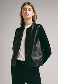 massimo dutti leather jacket black womens clothing jackets leather jackets wr82361