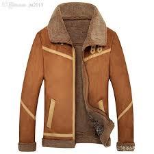 2019 fall men leather jacket with fur collar winter outerwear coats blue khaki mens faux fur lined jacket biker suede pelle pelle coat from aprili