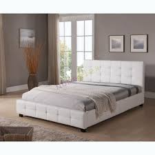 bed and mattress package double size upholstered white pu leather tommy
