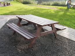 table recycled materials. Contemporary Picnic Table / Recycled Plastic Made From Materials Rectangular