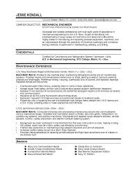 Mechanical Engineer Resume Template Adorable Mechanical Engineer Objective Resume Kubreeuforicco
