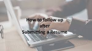 How To Follow Up After Cv Submission