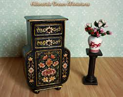 miniatures dollhouse furniture. dollhouse furniture cabinet 112 scale miniature fully artisan hand painted miniatures
