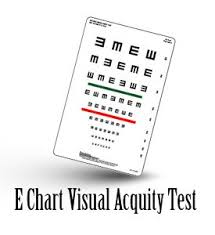Visual Acuity E Chart Test Eye Test For Kids Vision With E
