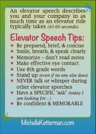 58 Best Elevator Speech Images Elevator Career Advice Career