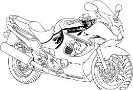 Printable Coloring Page Simple Coloring Page Printouts Free Printable Motorcycle Pages For 3