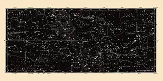 Amazon Com Large Horizontal Antique Constellations Map And