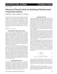 Aci Rebar Bend Chart Pdf Influence Of Tension Strain On Buckling Of