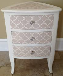 stenciling furniture ideas. Comely Stencil Drawers Night Stand As Furniture For Bedroom Decoration Using Stencils Paintings Stenciling Ideas
