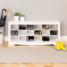 shoe furniture. winslow white shoe storage cubbie bench overstock shopping great deals on benches furniture