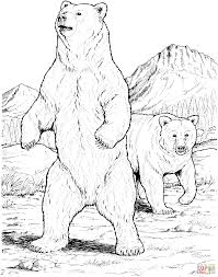 Small Picture Two Black Bears coloring page SuperColoringcom Sprookje