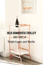 Bright Copper and Marble bar cart