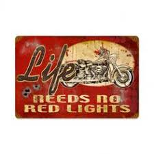 metal wall art red motorcycle