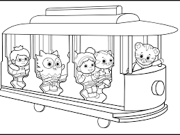Daniel Tiger Christmas Coloring Page With Printable Pictures Free