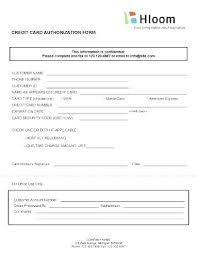 Credit Card Release Form Download One Time Credit Card Payment Authorization Form Template