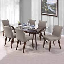 Glass top dining sets Round Wesley Persicaleatherette Seater Glass Top Dining Table Set Urban Ladder Urban Ladder Wesley Persicaleatherette Seater Glass Top Dining Table Set