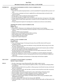 Resume Samples For Supply Chain Management Supply Chain Coordinator Resume Samples Velvet Jobs 14