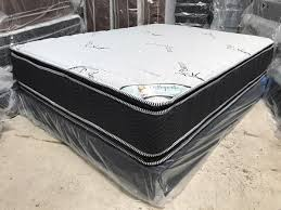 16 Bamboo Double Sided Pillow Top Mattress and Boxspring