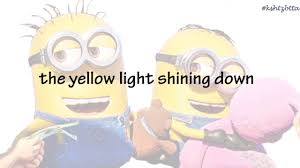 Yellow Light Shining Down Despicable Me 3 Yellow Lights By Pharrell Williams Song